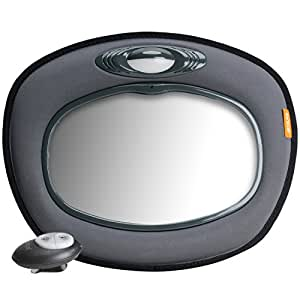 Brica Day and Night Light Musical Auto Mirror for in Car Safety, (Grey)