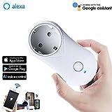 VIFLYKOO Intelligente WLAN Steckdose mit USB Port(Kompatibel mit Alexa/Google Home/IFTTT), mit App Steuerung überall und zu jeder Zeit
