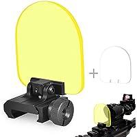 OTraki Reflex Protector de Vista Holográfico 2 Pack Red Dot Sight Cubre Plegable Airsoft Sight Cover 20mm QD Montaje táctico de Repuesto Spare Lente Protector de Pantalla Para Airsoft Hunting Shooting