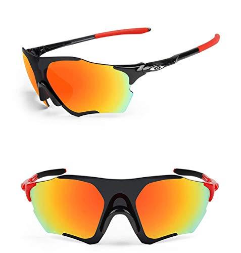 MINI SHOW Rahmenlose polarisierte Brille, Outdoor-Reitbrille, Winddichte Reitbrille, Brille, Radsportbrille für Herren, Sonnenbrille für Damen,C2