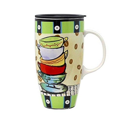 Creative céramique de tasse de café/tasse de café avec Colorful Motif Coupes