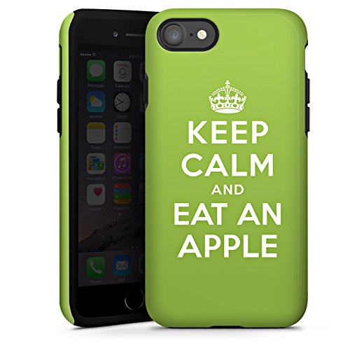 Apple iPhone X Silikon Hülle Case Schutzhülle Keep Calm Apfel Statements Tough Case glänzend