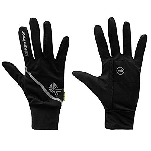 Karrimor para hombre running guantes, negro, XS-S