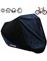 Universal Black Bicycle Covers 190T Nylon Waterproof Portable Lightweight for Outside Indoor Storage 1 Bikes FUCNEN Heavy Duty Bike Covers Anti Dust Rain Snow Wind UV Protection for Mountain Road Bike