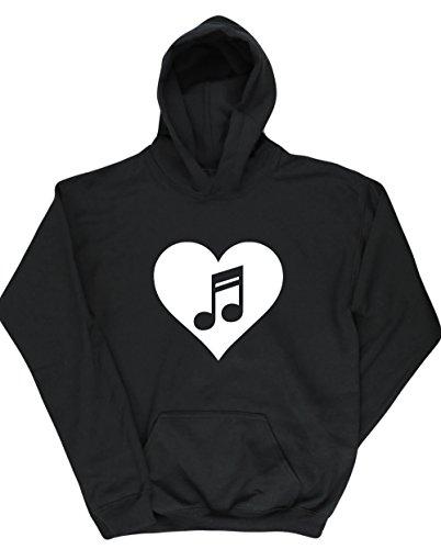 Hippowarehouse Heart Music Kids Children's Unisex Hoodie Hooded Top