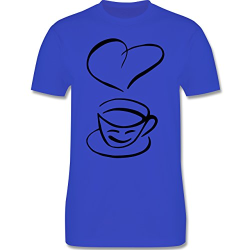 Küche - I Love Coffee - Herren Premium T-Shirt Royalblau