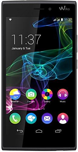 Wiko Ridge 4G Dual-Sim Smartphone (5 Zoll (12,7 cm) Touch-Display, 16 GB Speicher, Android 4.4.4) schwarz / grau