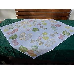 Tischdecke Herbst handbedruckt
