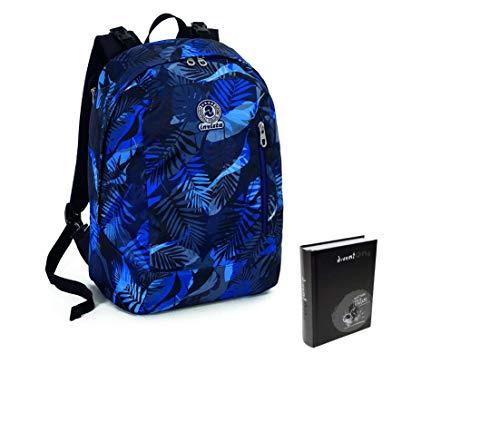 Zaino reversibile invicta twist - exotic - blu + diario pocket 16m nero diventone seven