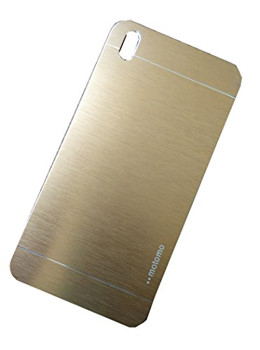 DEFENDER Premium Brushed Aluminium Protective Hard Back Case Cover (Rubberised Inside) for HTC Desire 816 / 816G - Champagne Gold