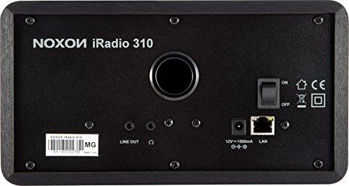 Noxon iRadio 310 Internetradio (TFT-Farbdisplay, WLAN 802.11 b/g/n, LAN 10/100, Holzgehäuse, Netzschalter, Line out) schwarz