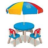 Set Patio Sedie, Ombrellone e Tavolino da Esterno per Bambini