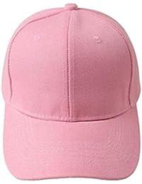Sombrero,Xinantime Gorra de béisbol en blanco de color sólido ajustable del sombrero (Rosado)