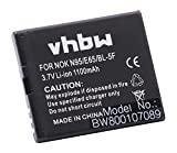 vhbw Batterie Li-ION 1100mAh (3.7V) pour téléphone Portable Smartphone BEA-FON S30, S31, S31 EU001B comme MP-S-O, BL-5F.
