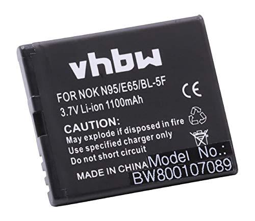 vhbw Li-Ion Akku 1100mAh (3.7V) für Handy Telefon Smartphone BEA-FON S30, S31, S31 EU001B wie MP-S-O, BL-5F. 1100 Handy