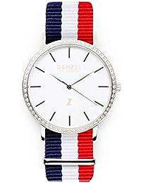 Panama DS048 - Reloj de Pulsera para Mujer (Esfera Blanca y Brillantes), Color