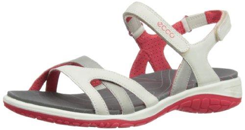 Ecco Damen Kawaii Klettverschluss Sandalen, Weiß - Shadow White/Teaberry - Größe: 39