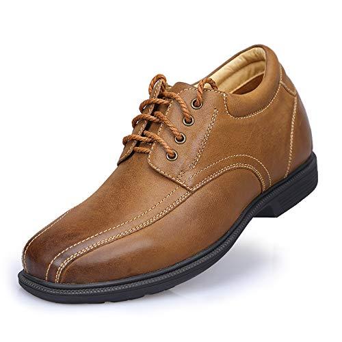 Lovdram scarpe uomo nuovi piedi autunno novità scarpe rialzate invisibili scarpe casual in pelle scarpe uomo 01, marrone, 38