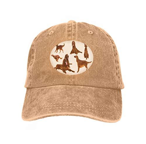 Xunulyn Unisex Adjustable Mesh Caps Snapback Hat Set Irish Setters White Background Sand Color Irish Mesh-hut