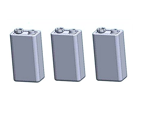 Deet 9 V Akku, Bulk Pack von drei Batterien. Super Heavy Duty, Long Life Pack – Quecksilber...
