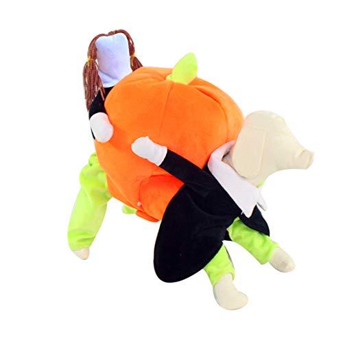 Elife cane gatto cucciolo halloween natale strano cappotto giacca zucca cosplay costume vestiti di halloween, regalo di natale per piccoli animali domestici (xl)