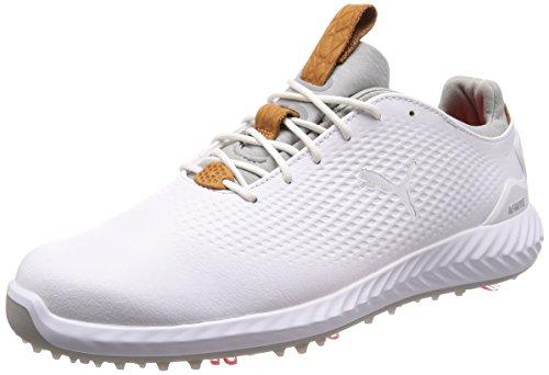 Puma Chaussures de Golf pour Homme - - Blanc/Gris, 8 UK