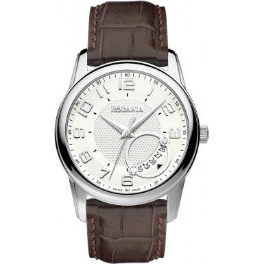 Rodania Swiss Herren-Armbanduhr Celso Analog Quarz Leder RS2503821