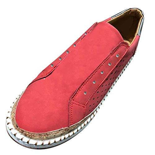 Bibao Damen Schuhe mit rundem Zehenbereich, Flacher Absatz zum Schlupfen, lässige Schuhe aus Segeltuch - Natürliche Segeltuch-schuhe