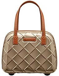 Stratic Leather & More Beauty Case Case, 36 cm, 15 liters, Beige (Champagne)