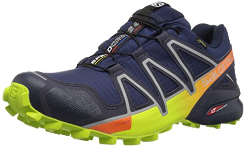 Salomon Speedcross 4 GTX, Scarpe da Trail Running Uomo, Blu (Medieval Blue/Acid Lime/Graphite 000), 40 2/3 EU