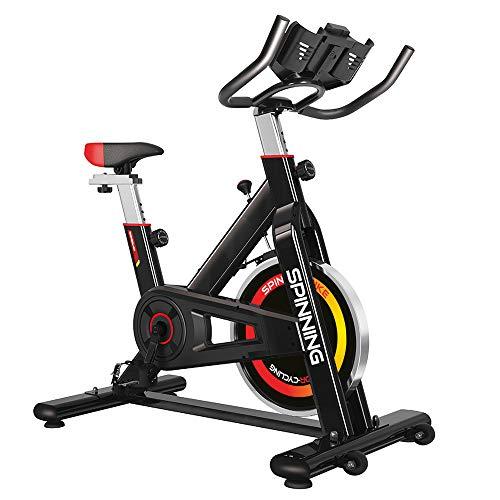 Gridinlux. Bicicleta de Spinning. Pantalla LCD, Pulsómetro, Resistencia Variable, Altura Ajustable...