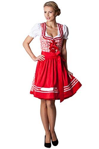 Ludwig und Therese Damen Trachten Dirndl Doro rot/weiß D010081 36