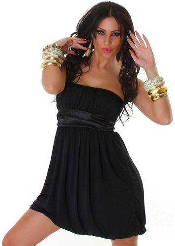 JELA London - Robe - Boule - Uni - Sans manche - Femme Noir - Noir