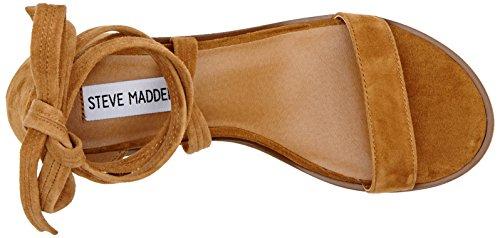 STEVEN by Steve Madden Rizzaa Sandal, Sandales  Bout ouvert femme Marron (Cognac)