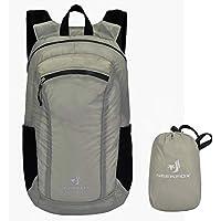 NEEKFOX 20L Mochilla de Excursión Liviana y Empacable Bolso de Excursión Pequeño Resistente Al Agua (0.3 Gris)