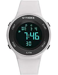 90a6345c284a Relojes Pulsera Multifunción Calendario Mes Semana Alarma Digitale Relojes  Hombre Correa de Silicona Deportivo Moderno
