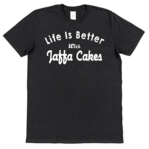 Life Is Better With Jaffa Cakes Cotton T-Shirt