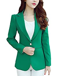 4757014904e2 Blazer Donna Elegante Business Slim Fit Manica Lunga di Colore Solido  Casuali Taglie Forti Donne Giubbotto