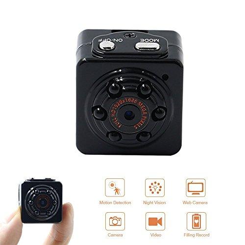 Ir-video-cam (Spionagekamera Spy Cam 1080P HD tangmi Camera versteckte tragbar Bewegungserkennung Camcorder Überwachung Video IR Nachtsicht Aufnahme in Schnalle)