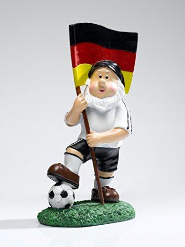 """IBV Gartenzwerg """"Deutschland mit Fussball"""" Dekozwerg Gartendeko Rasendeko Terassendeko"""
