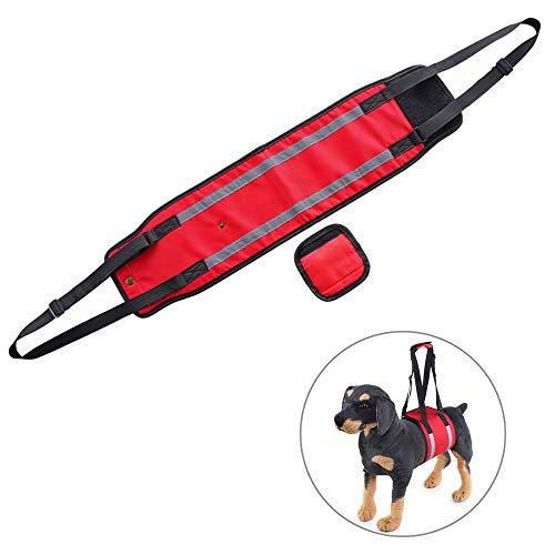 @W.H.Y Hundegürtel mit Griff Hund Hinterbein Behinderter Power Repair Harness Gliederschwäche Junger Senior,Red,L Power Harness