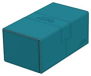 Ultimate Guard Twin FlipŽnŽTray Deck Case 200+ Caja de Cartas Tamaño Estándar XenoSkin Gasolina Azul