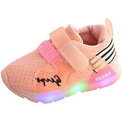 zapatilla de deporte niña, ❤️ Manadlian Zapatos LED Niños Niñas Zapatillas Niño Zapatillas Para Bebés Zapatos de Bebé Zapatillas de Deporte Antideslizante (Rosa, 3 años)