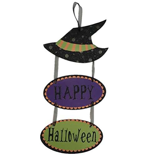 BESTOYARD Halloween hängende Zeichen Verzierung Drei Auflistungs Plaketten Dekorative hängende Stützen