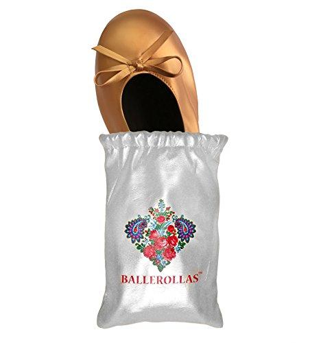 Faltbare Ballerinas BALLEROLLAS - Afterparty Schuhe - Wechselschuhe, edles braun, Gr. 37/38 (Schuhe Kupfer)