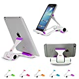 Universal Cellphone Stand Holder, Adjustable Portable Foldable Lazy Desktop Cell Phone Cradles Mount Bracket for Smartphones Tablets E-Readers iPhone Samsung Galaxy Purple