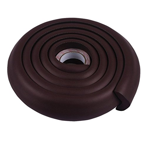 Okayji Baby Safety Table Edge Corner Cushion Guard Strip Bumper Protector, Coffee