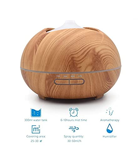 Aromatherapy essential oil diffuser mini wood grain cool mist humidifier mute eliminate the smell of radiation no water automatically shuts off the fog size adjustable