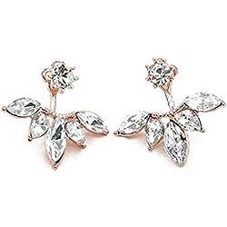 Earrings Dangle earrings crystal daisy exquisite flowers asymmetry Earrings jewelry standard gift personality for women