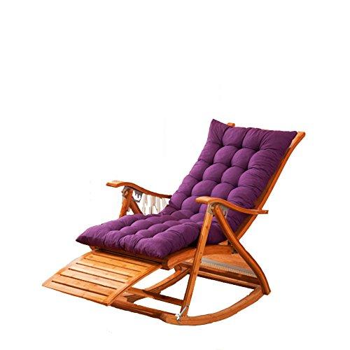 L&J Deckchairs,Rocking Chair Patio Liege Stuhl Greis Bambus Klappbare Stühle Sommer Nap Geschiebe 400kg Für Patio Büro Strand Outdoor Swimmingpool 6 Stände Einstellbar-B